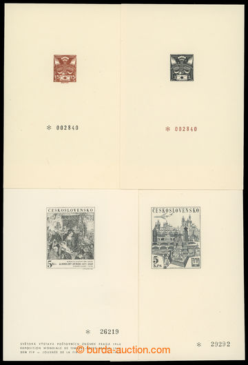 214960 - 1968-1982 comp. 4 pcs of commemorative prints, Pof.PT 3 and