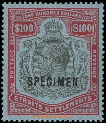 214998 - 1923 SG.240cs, George V. $100 carmine / black, wmk Multiple