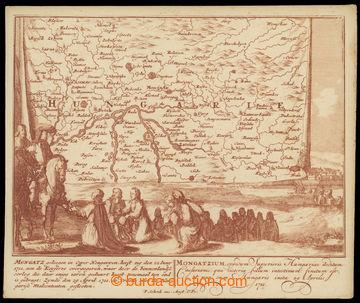 215031 - 1711 MONTGATZ (MUKAČEVO) - dobová mapa Zakarpatské Ukraji