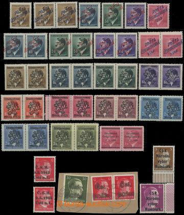 215048 - 1945 RUMBURK / ÚSTÍ n.L. / TEPLICE / KOSTELEC n.O. atd.; s