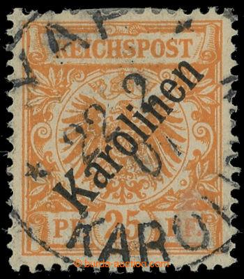 215212 - 1899-1900 KAROLINEN / Mi.5I, Adler 25Pfg oranžová s přetiske
