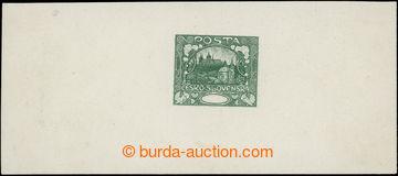 215237 -  ZT  zkusmý tisk v zelené barvě, V. kresba, 2. úprava, b