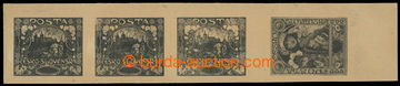 215239 -  ZT  4-páska ze soutisku zn. Hradčany, plný hodnotový š