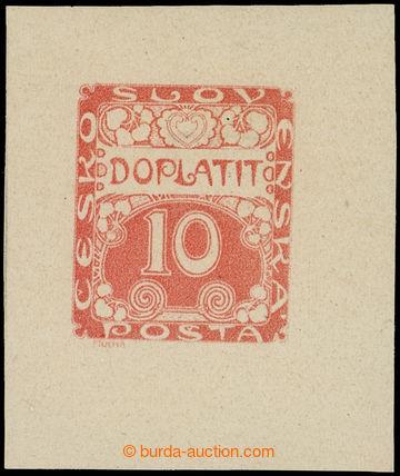 215262 - 1918 ZT  Ornament hodnota 10h, hlubotiskový zkusmý tisk v