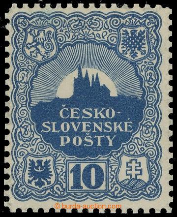 215295 - 1918 ZT  nepřijatého návrhu známky 10h, autor Jindra SCH