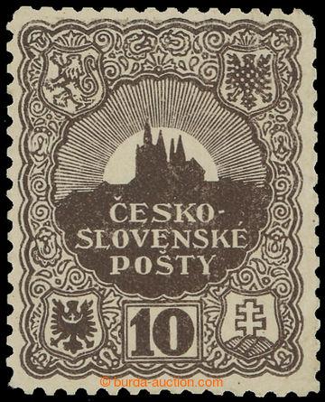 215296 - 1918 SCHMIDT Jindra /  nepřijatý návrh známky 10h, zkusm