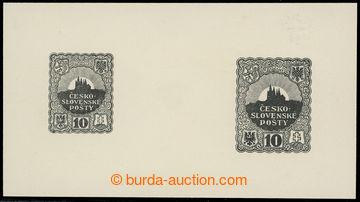 215297 - 1918 ZT  nepřijatého návrhu známky 10h, autor Jindra SCH