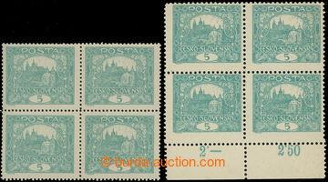 215317 -  Pof.4A IIs, 4B IIs, 5h modrozelená, sestava 2ks 4-bloků,