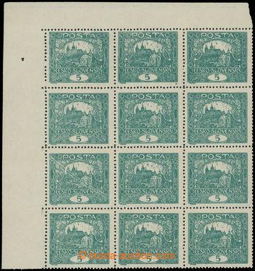 215321 -  Pof.4Ab Is, 5h tmavě zelená, levý horní rohový 12-blok