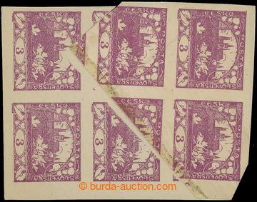 215371 -  Pof.2 VV, 3h fialová, krajový svislý 6-blok s velkou př