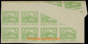 215375 -  Pof.3 VV, 5h světle zelená, pravý horní rohový 8-blok
