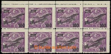 215405 -  Pof.L5 VV, II. letecké provizorium 100/200h fialová, 8-bl