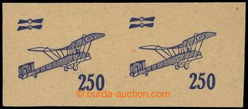 215447 -  ZT  zkusmý tisk přetisk hodnoty 250h v modré barvě, vod