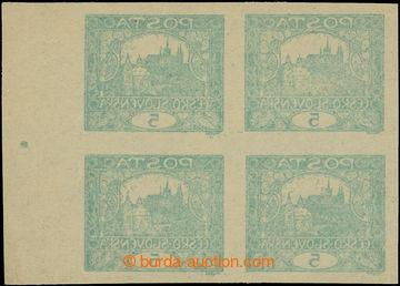215469 -  Pof.4 VV, 5h modrozelená, 4-blok s pravým okrajem, s poč
