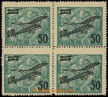 215524 -  Pof.L4 DV, II. letecké provizorium 50/100h zelená, 4-blok