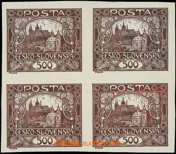 215531 -  PLATE PROOF  palte proof of the value 500h in brown color,