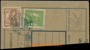 215558 -  ústřižek poštovní průvodky vyfr. mj. nezoubkovanou zn