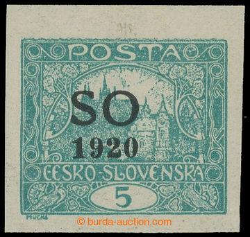 215592 -  Pof.SO3, Hradčany 5h modrozelená nezoubkovaná, s části