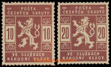 215596 - 1918 ZT  hodnoty 10h a 20h, dvojice v červenohnědé barvě