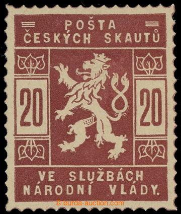 215602 -  ZT  hodnoty 20h v červenohnědé barvě; nepatrná nálepk