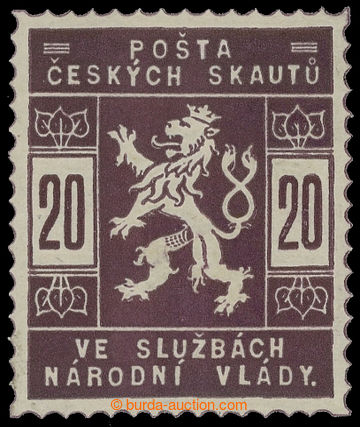 215608 - 1918 ZT  hodnoty 20h ve fialové barvě; nepatrná nálepka,