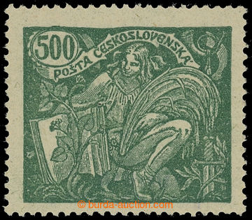 215652 -  Pof.168B VV, 500h zelená s perforací HZ 13¾ : 13½ - tis