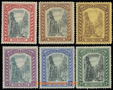 215660 - 1911-1919 SG.75-80, Královnino schodiště 1P - 3Sh, komple