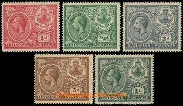 215668 - 1920 SG.106-110, Jiří V. - Oslavy míru 1P - 1Sh, kompletn