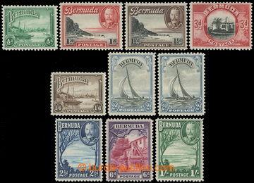 215715 - 1936-1947 SG.98-106, Jiří V. - Motivy, ½P - 1Sh, kompletn