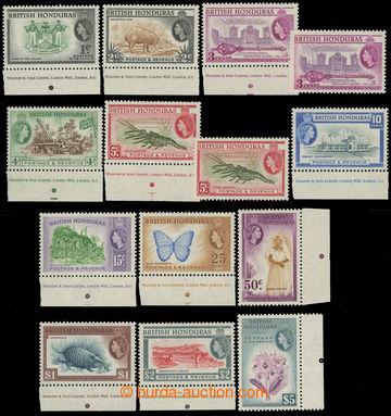 215737 - 1953-1962 SG.179-190, Alžběta II. - Motivy, 1C - $5, kompl