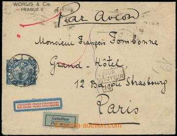 215745 - 1923 PRAHA - PAŘÍŽ / firemní Let-dopis zaslaný do Franc