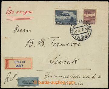 215791 - 1939 PRAHA - SUŠAK / R+Let dopis zaslaný do Jugoslávie vy