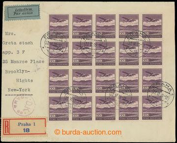 215793 - 1939 PRAHA - NEW YORK  R+Let-dopis zaslaný do USA, vyfr. 40