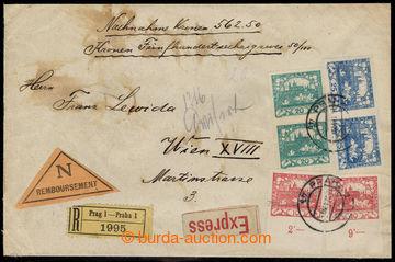 215808 - 1919 cenné psaní jako R+Ex+Dobírka adresované do Vídně