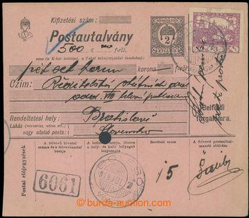 215833 - 1919 BEZ POŠTOVNÉHO  větší díl uherské peněžní cel