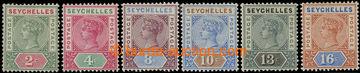 215855 - 1890-1892 SG.9-14, Viktorie 2C - 16C, kompletní řada, vše