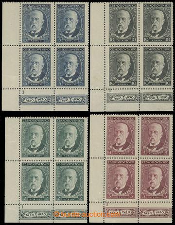 215886 - 1930 Pof.261-264, 80. narozeniny TGM 2Kč - 10Kč, sestava 4