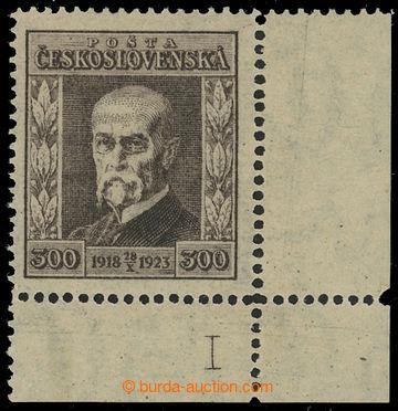 215896 - 1923 Pof.179 DČ, Jubilejní 300h hnědá, pravý dolní roh