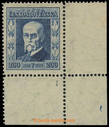 215898 - 1923 Pof.178 DČ, Jubilejní 200h modrá, pravý dolní roho