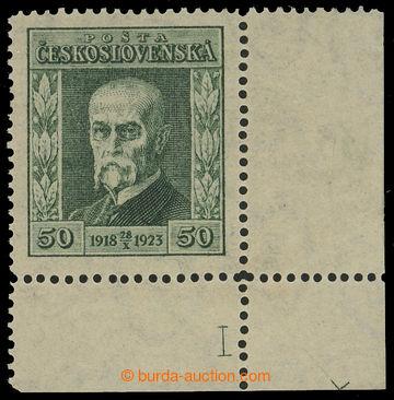 215899 - 1923 Pof.176 DČ, Jubilejní 50h zelená, pravý dolní roho