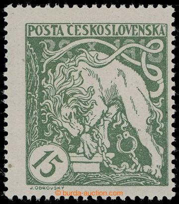 215915 -  Pof.27Aa, Lev 15h světle zelená s ŘZ 13½ : 13¾, bez p�