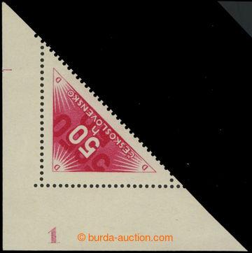 215929 - 1937 Pof.DR2, 50h červená, rohový kus s celým DČ; svě�
