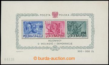 215995 - 1948 Mi.Bl.11, aršík 160 let ústavy USA, 80Zl-120Zl, nepa