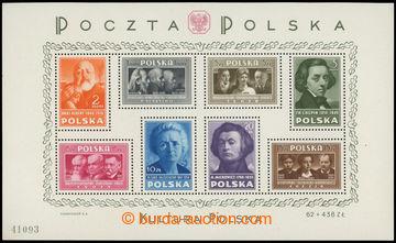 215998 - 1948 Mi.Bl.10, aršík Polská kultura 1Zl-20Zl, rozměr 211