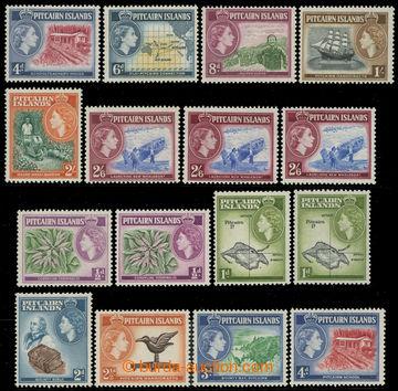 216021 - 1957-1963 SG.18-28, Elizabeth II. - Motives, ½P - 2/6Sh, co