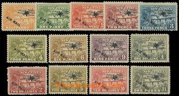 216022 - 1931 SG.137-149, Letecké - Domorodá vesnice, ½P - £1, ko