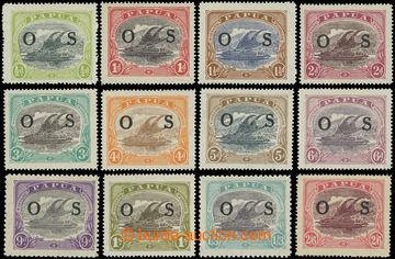216048 - 1931-1932 SG.O55-O66, Služební ½P - 10Sh, kompletní sér