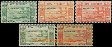 216065 - 1938 SG.D6-D10, Doplatní / POSTAGE DUE na emisi Ostrov Lope