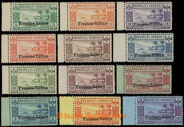 216073 - 1941 SG.F65-F76, Ostrov Lopevi, 5C - 10Fr, kompletní řada