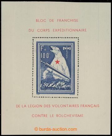 216077 - 1941 FRANCIE - Franzosische Freiwillige Legion Mi.Bl.I, Ledn